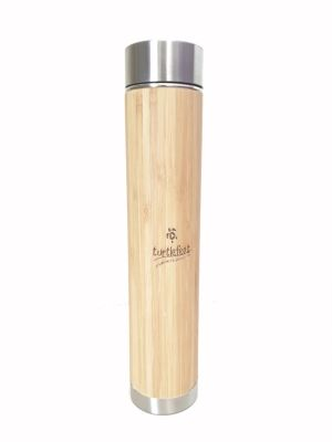 Bamboo Thermos Bottle with Strainer | 17 Oz