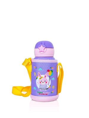 Kids Water Bottle with Straw and Outer Bag