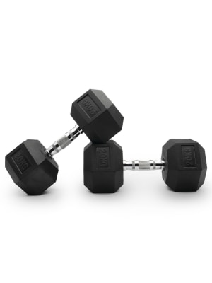 Hex Rubber Dumbells