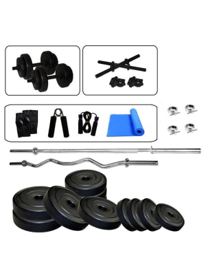 Home Gym Set 5 Ft Straight And 3 Ft Curl Rod Set With Yoga