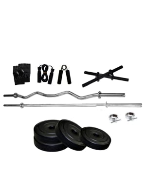 Home Gym 5 Ft Sraight And 3 Ft Curl Rod Set | 20 Kg