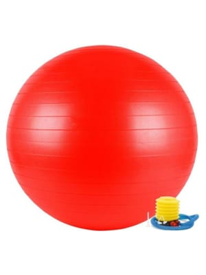Anti-Burst Gym Ball 65Cm W/Pump-Red