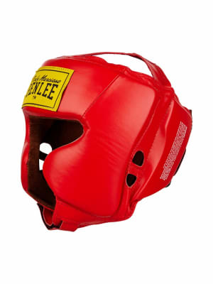 Leather Headguard Tyson Red L-Xl