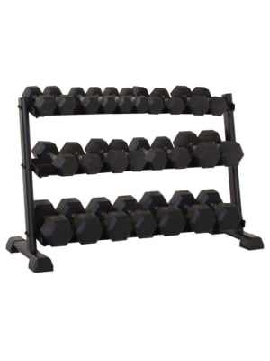 AC-Hex Dumbbell Pair & Rack Set   2.5 to 25 Kg