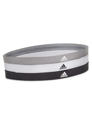 Sports Hair Bands - Black, White, Grey - 3 Pack