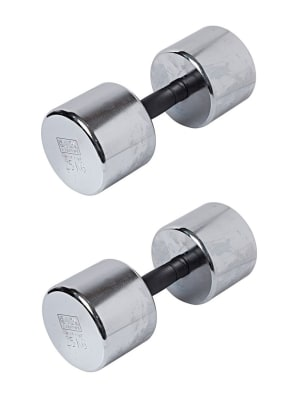 Chrome Dumbbell With Plastic Handle