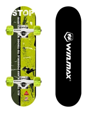 Skateboard Deck for Beginners and Adults, 9 Ply 31 x 8 Inch, 50 x 36 mm PU Wheel