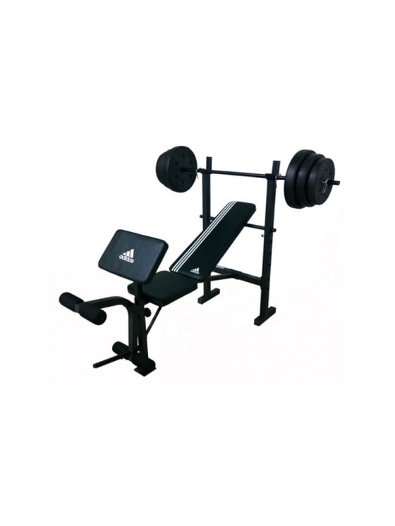Cerco suave Típico  adidas Essential Combo Training Bench with Weight Set 100 lb  talkingbread.co.il