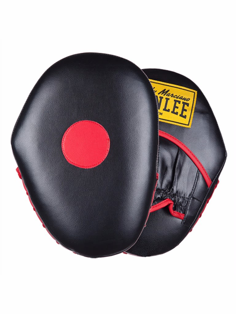 Artificial Leather Hook And Jab Pads Black-Red