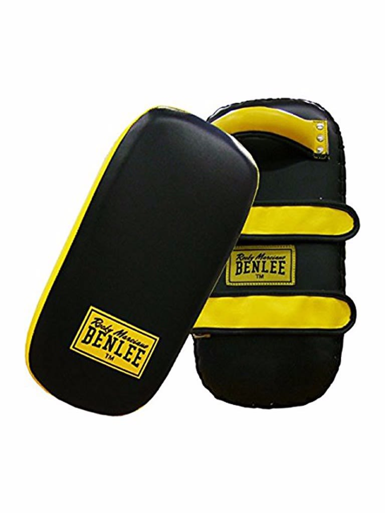 Leather Pao Pad Super Thai Black-Yellow