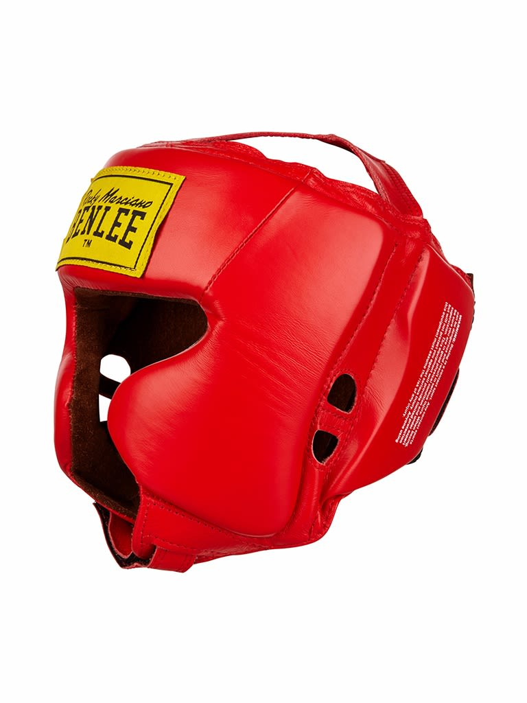 Leather Headguard Tyson Red S-M