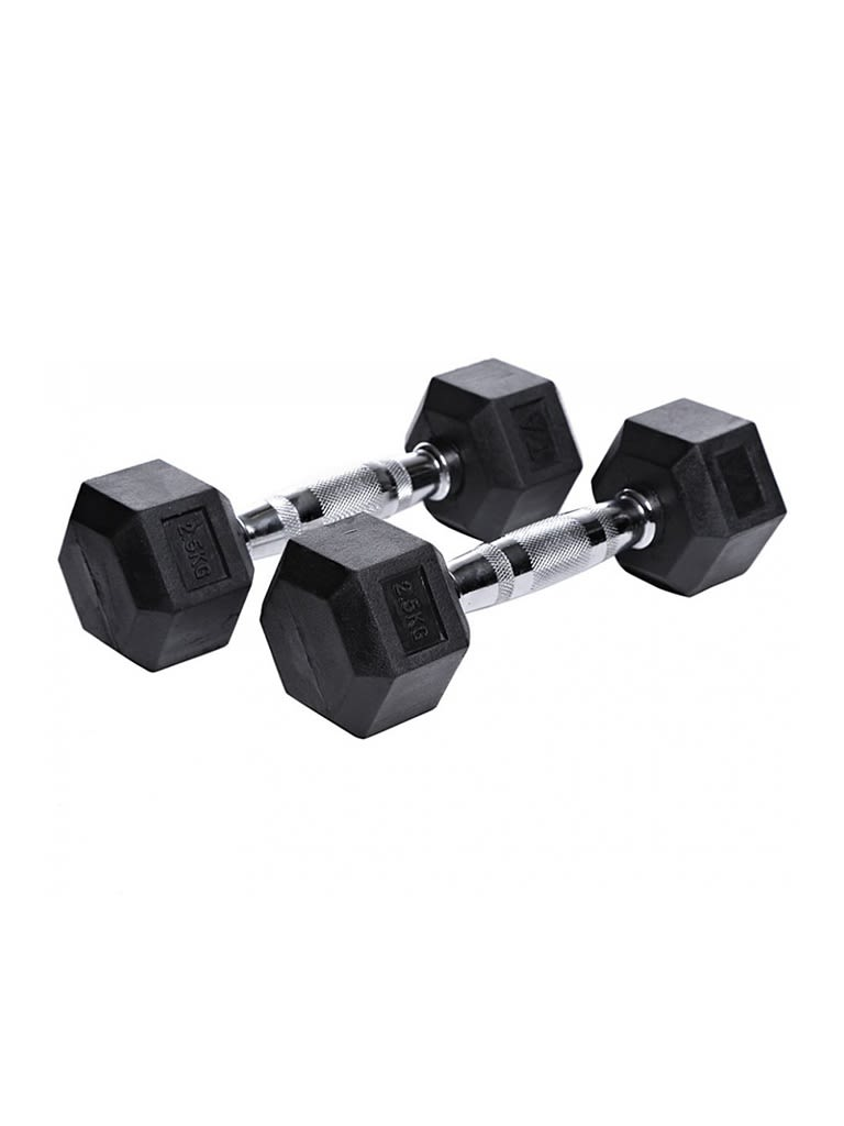 Hex Rubber Dumbbell 2.5Kg to 25Kg