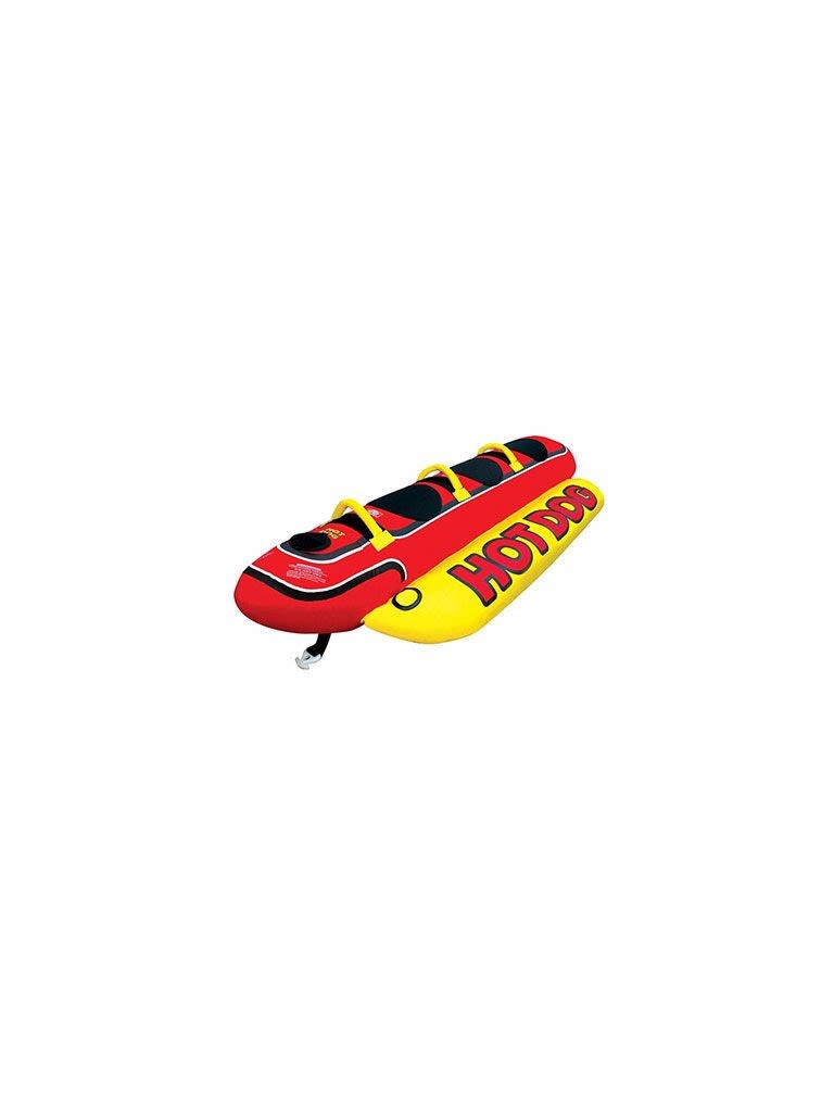 Hot Dog Inflatable Towable Tube - 3 Person