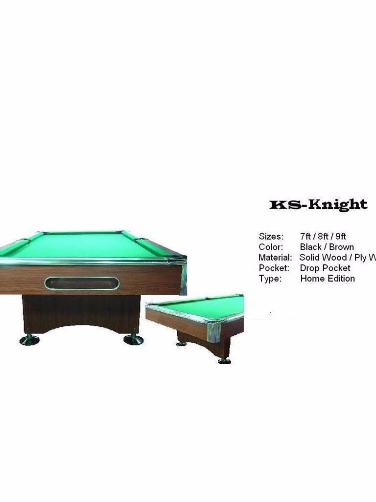 Knight Pool Table 8 Feet With Accessories