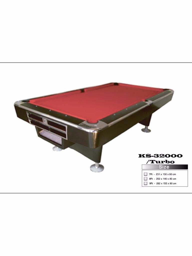 8 Feet Turbo Commercial Billiard Table