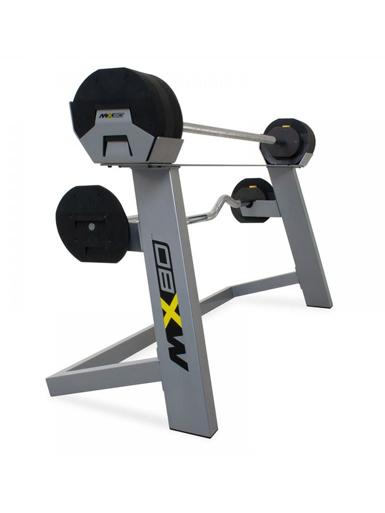 Rubber Barbell And Curl Bar | 20-80 lbs
