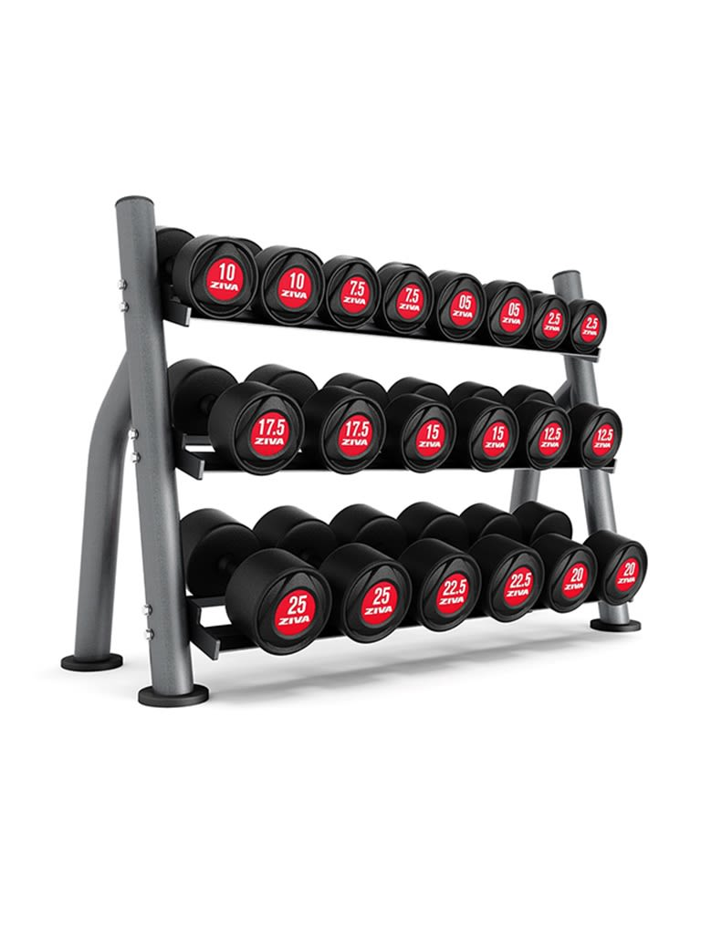 SL 10 Pair Dumbbell Compact 3-Tier Rack