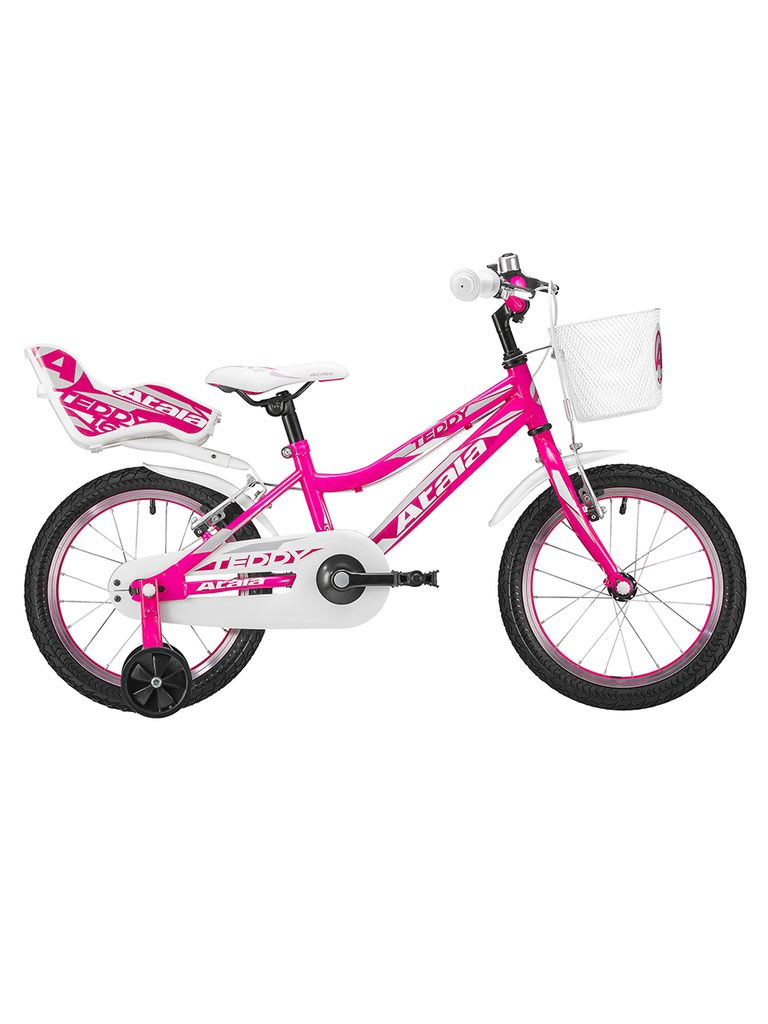 Teddy Girl-16 Bicycle | White/Rose 25