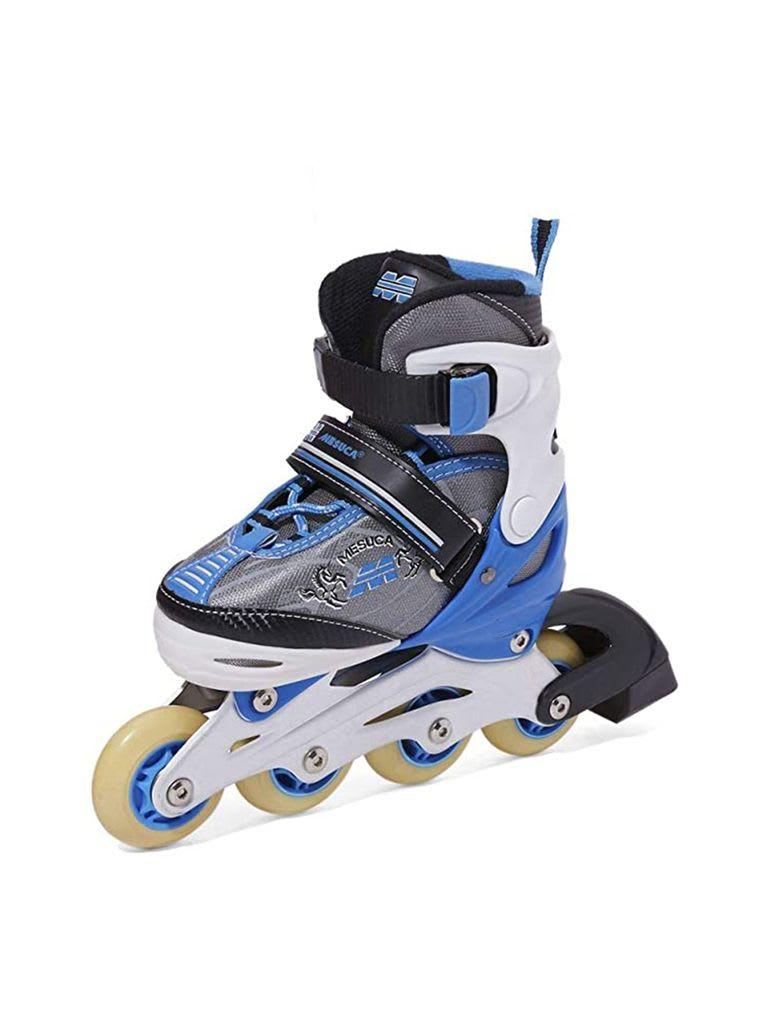 Adjustable Inline Roller Skate   MCB21067 Blue Alum