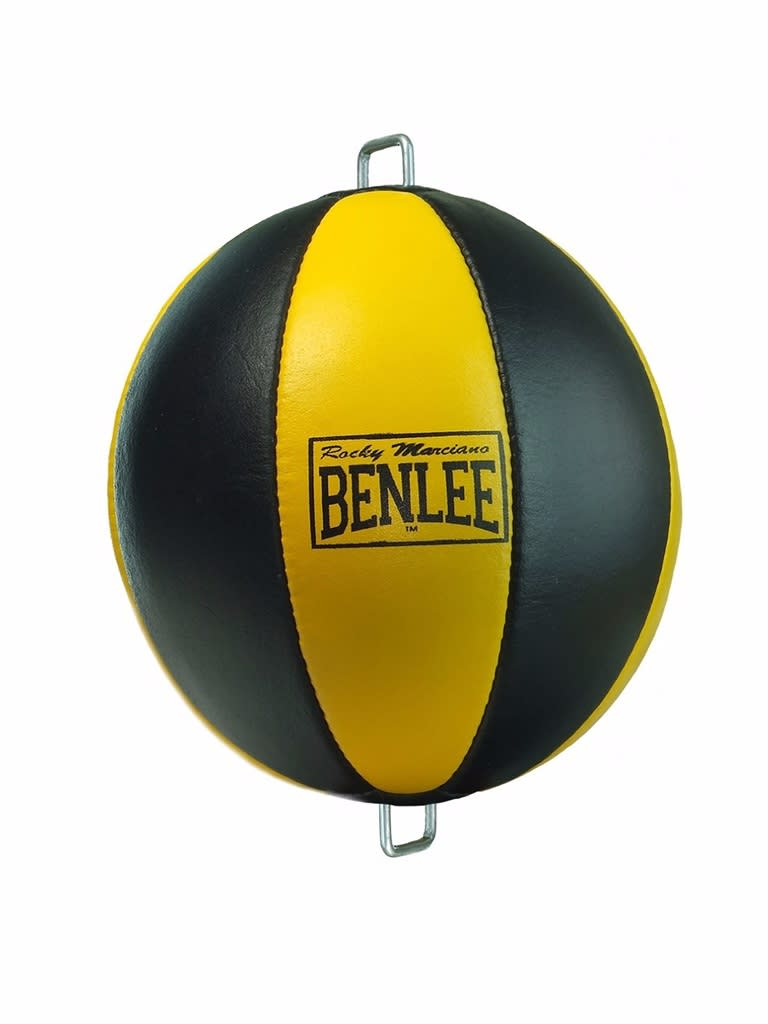 Leather Floor To Ceiling Ball Mars Black-Yellow