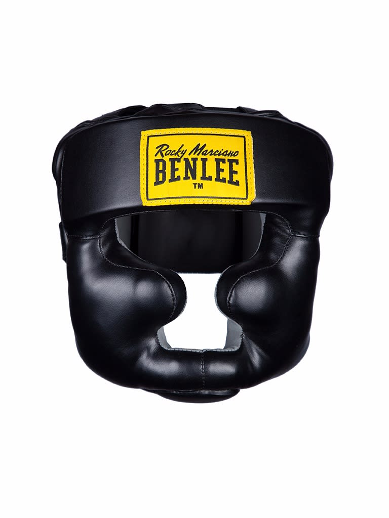 Artificial Leather Head Guard Full Protection Black