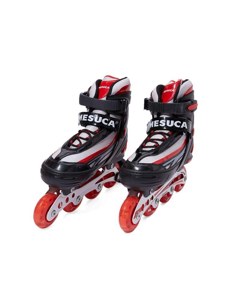 Adjustable Inline Roller Skate   MCB11153 Red Alum