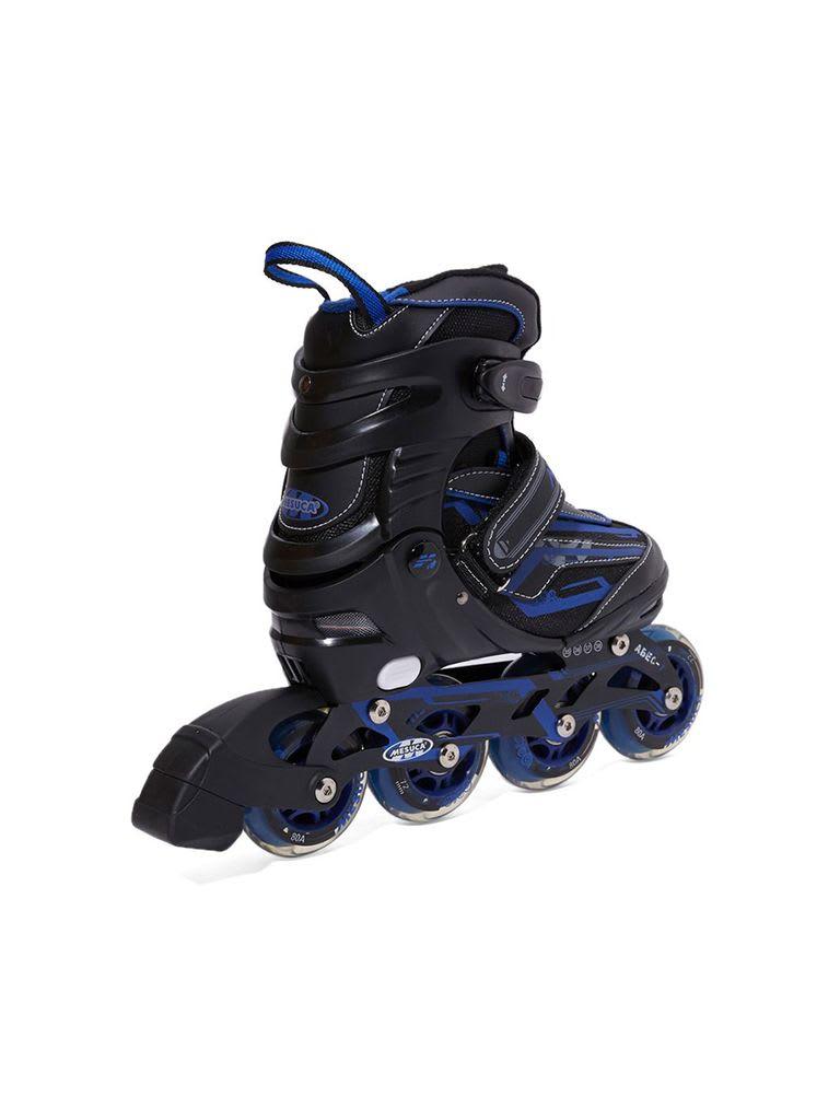 Adjustable Inline Roller Skate   MCB21064 Blue Alum