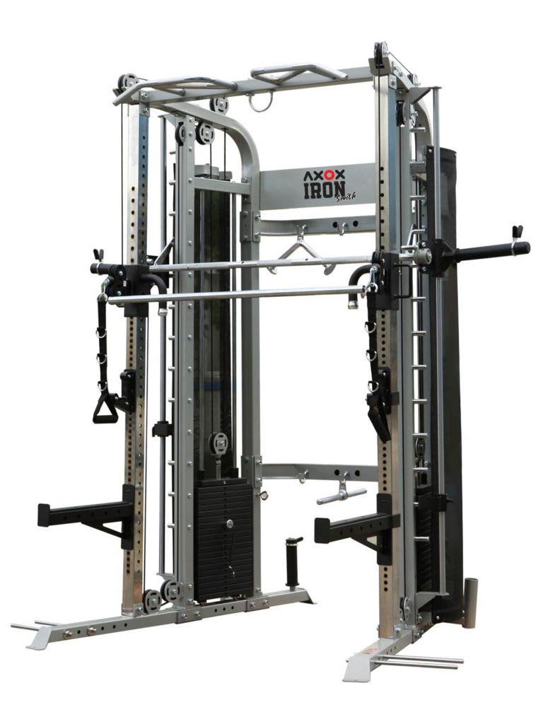 Functional Trainer, Power Rack, Smith Machine with Weight Bench