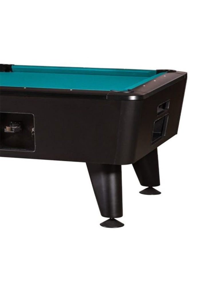 Kansas Coin Operated Pool Table 8 Ft | Black Finish