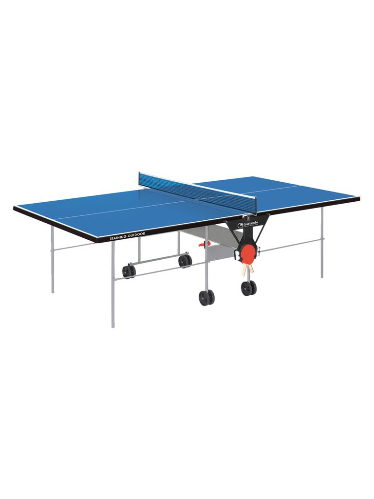 Training Outdoor Foldable TT Table with Wheels - Blue Top