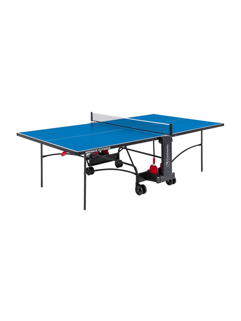 Challenge Indoor Foldable TT Table with Wheels - Blue Top