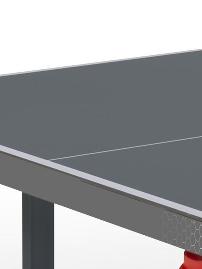 Premium Outdoor Foldable TT Table with Wheels - Grey Top