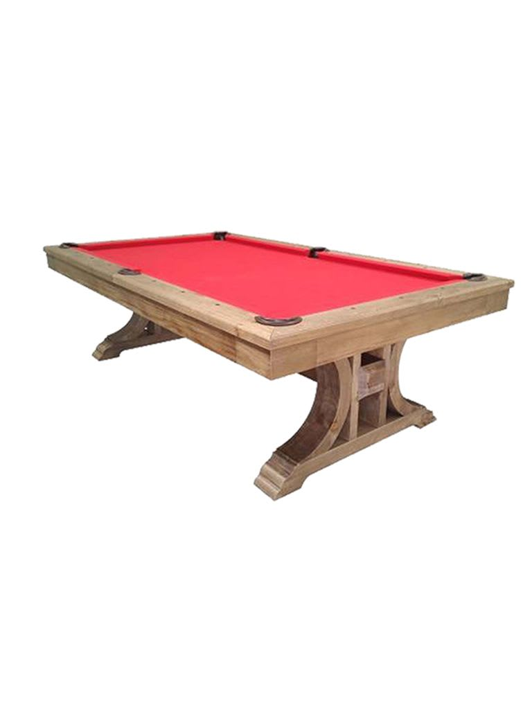 Athena Handicraft Pool Table 8Ft. In Antique Light Oak Finishing