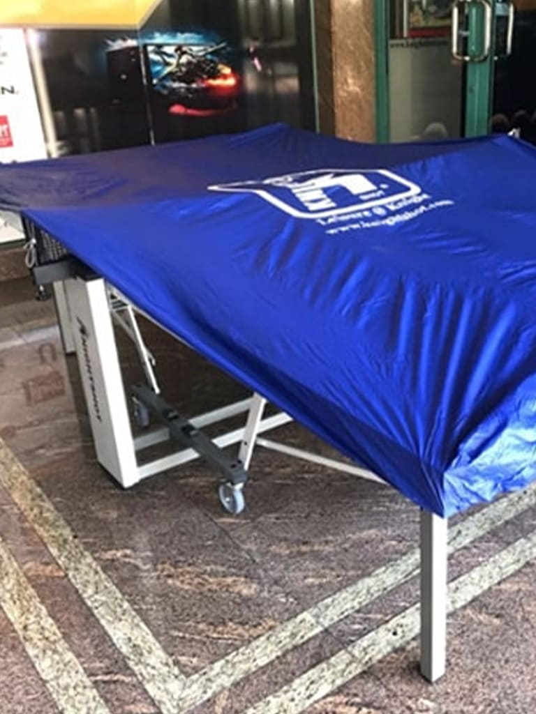 Table Tennis Cover Blue with 4-Corner Elastic Band | L.315 cm x W.185 cm