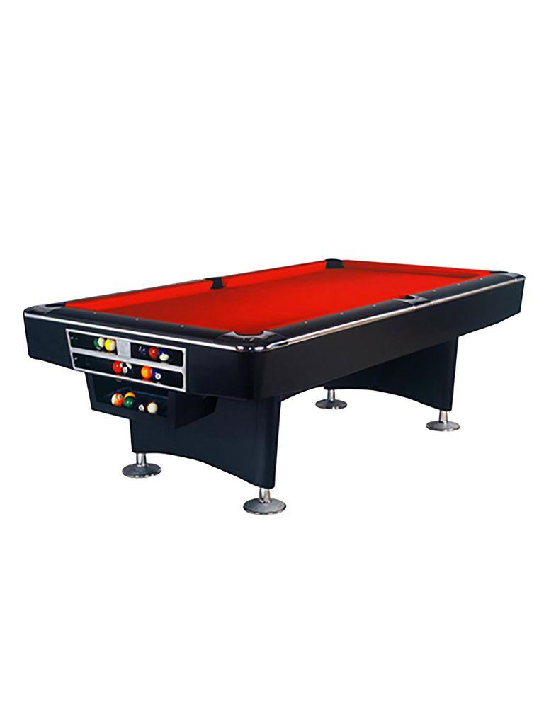 Turbo Commercial Billiard Table 9Ft.X4.5Ft. Black Finishing   Ball Return System