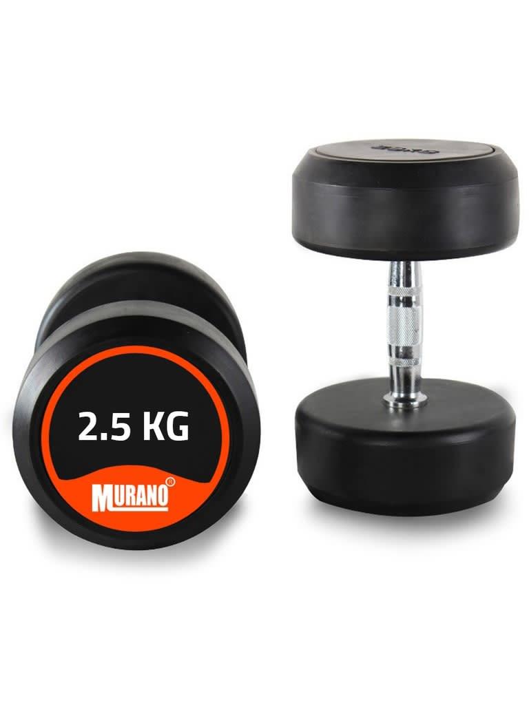 Round Rubber Dumbbell Set   2.5 Kg - 50 Kg