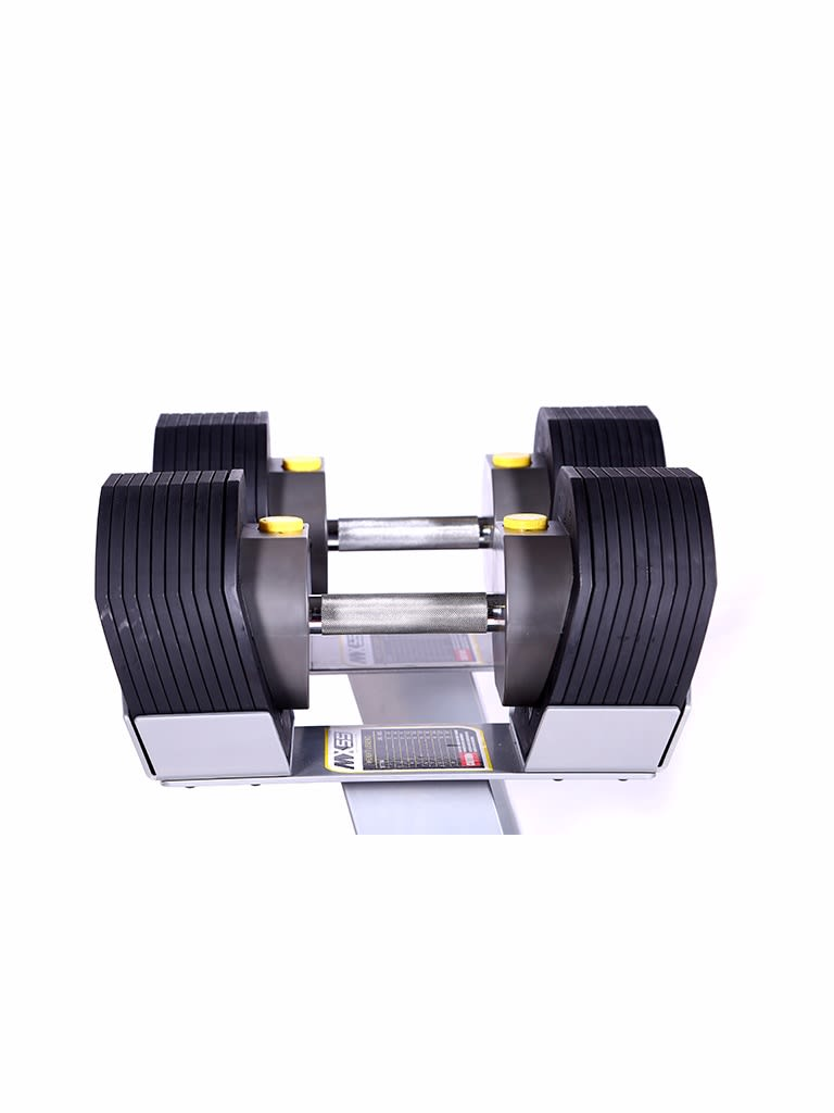 10-55 lbs Adjustable Dumbbell Set With Rack