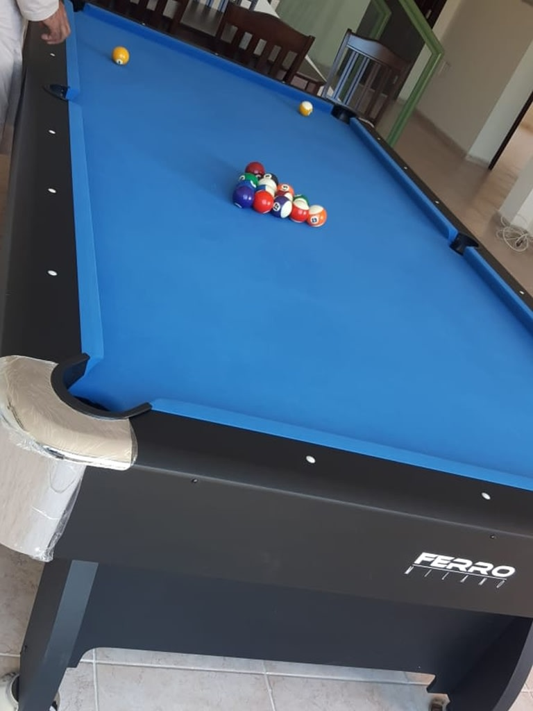 9 Feet Wooden Billiard Table - Blue