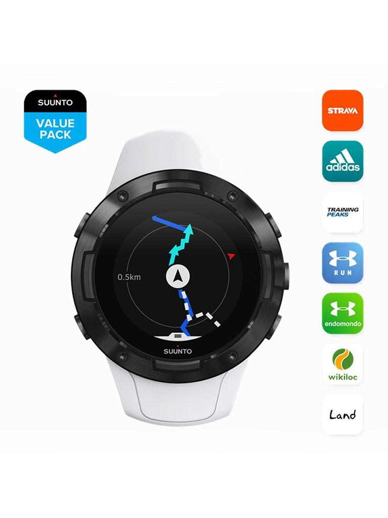 5 G1 Sports Smart Watch, White Black