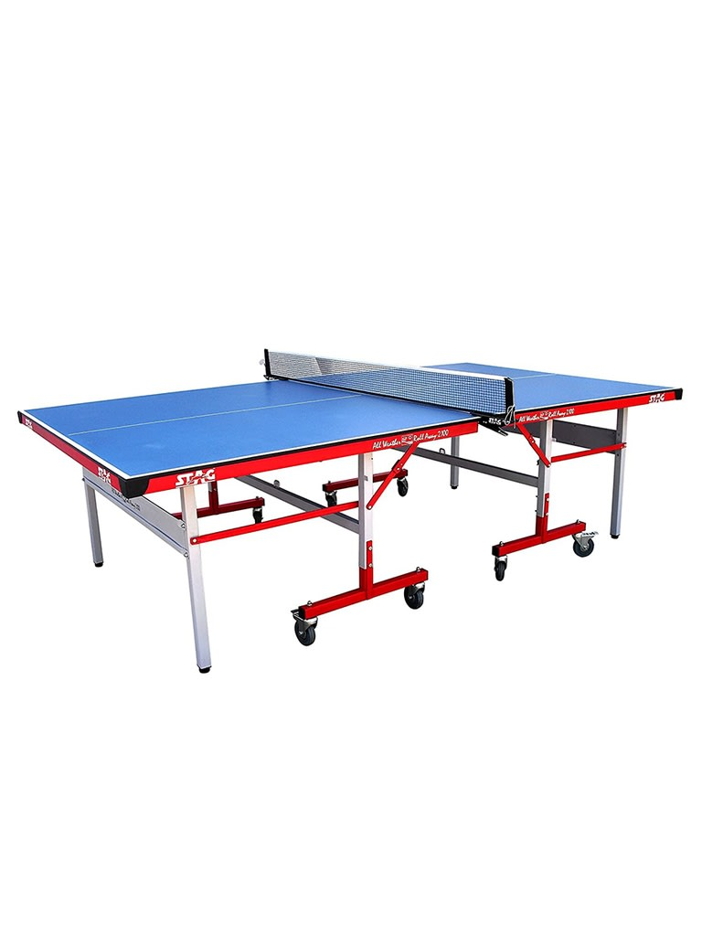 12mm Outdoor Rollaway Table Tennis Table with COMPREG Top   22 x 42mm