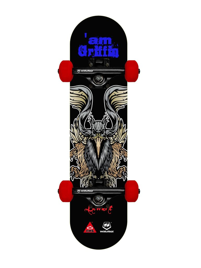 Skateboard for Professionals and Beginners, 8 Ply Deck, 50 x 36 mm PU Wheel