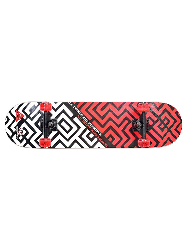 Skateboard, Beginners and Adults, 9 Ply Double Deck, 50 x 36 mm PU Wheel