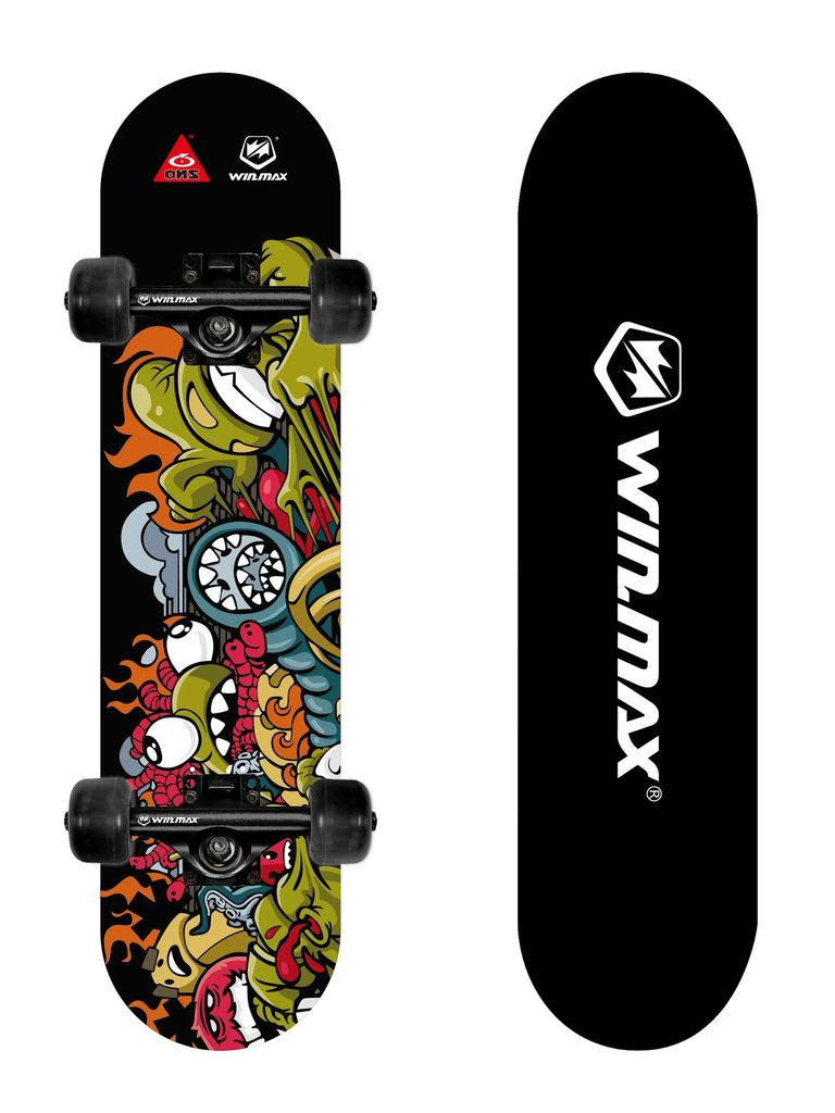 Skateboard, Ideal for Beginners and Adults, 9 Ply Maple Deck, 31 x 8 Inch