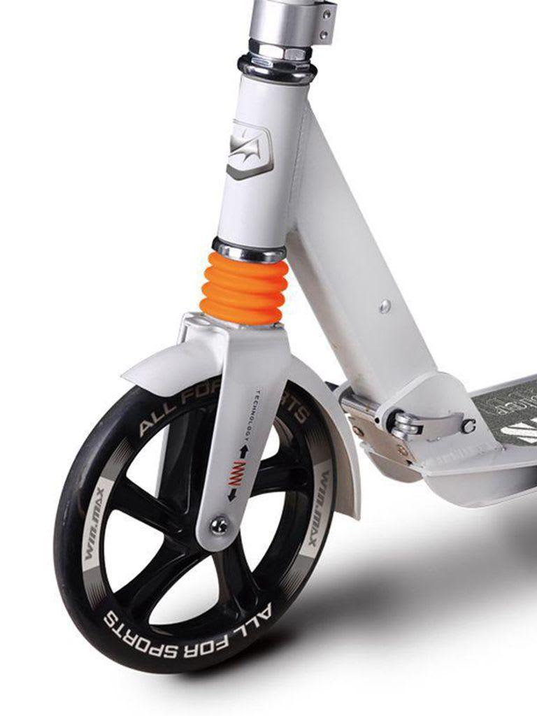 Lambert Junior Folding Scooter With Hand Breaks, White