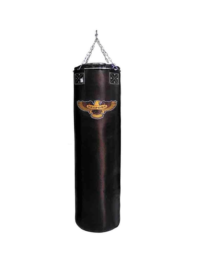 Punching Bag with Steel Ring Black