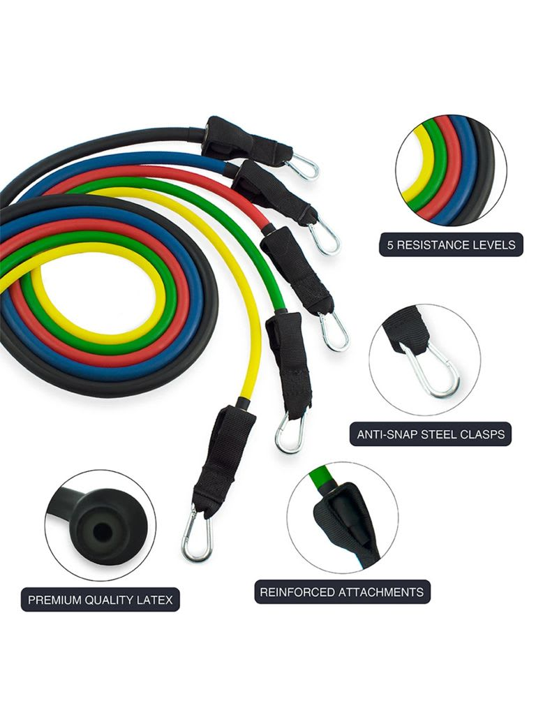 Five Set Professional Grade Resistance Cables