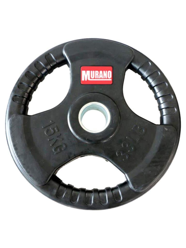 Olympic Rubber Grip Disc Set - Black | 140 Kg