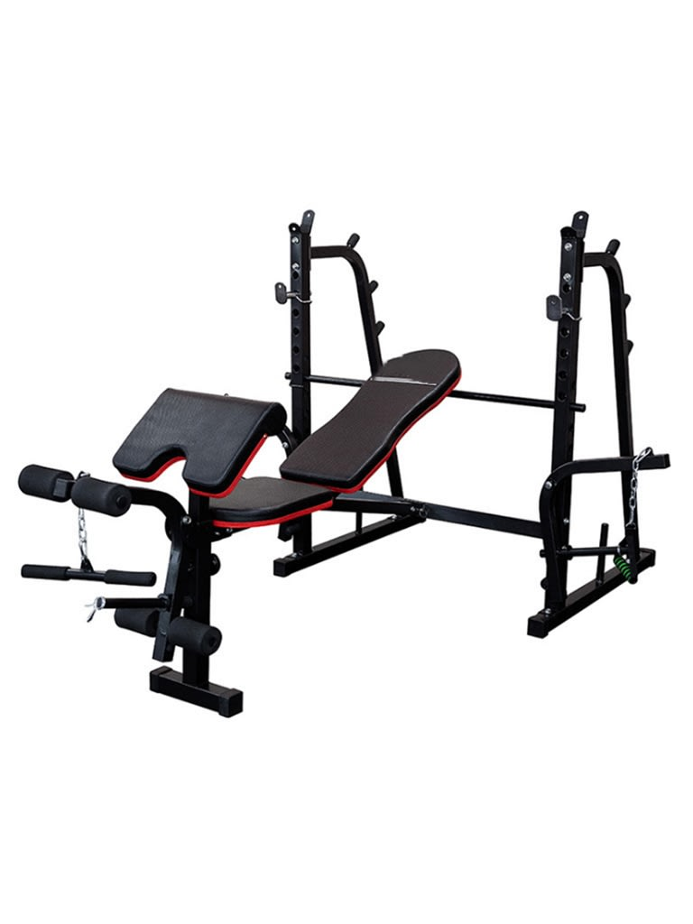 Heavy Duty Multi Functional Weight Lifting Bench with Rack