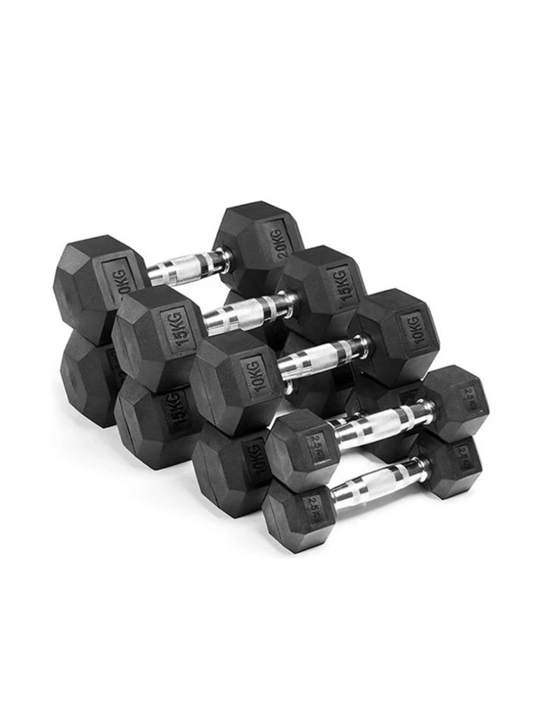 Hex Dumbbell Set   2.5 to 25 Kg Pair