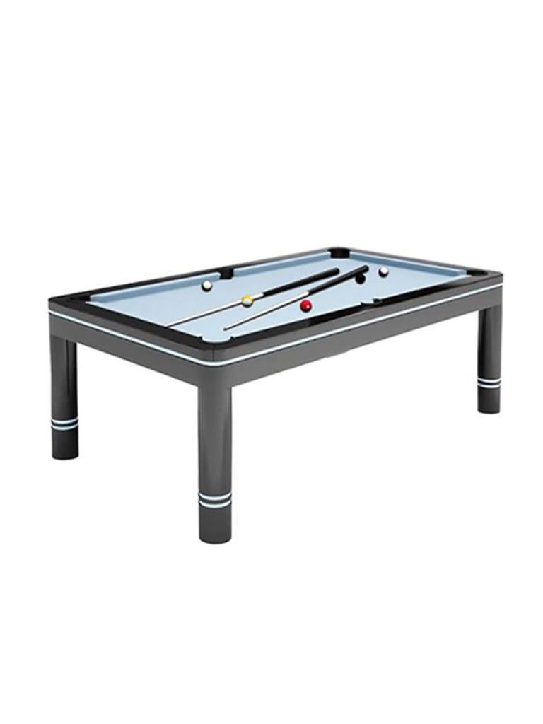 Billiards Breton Verso Pool Table 8Ft. Black Finishing White Decorative Lines
